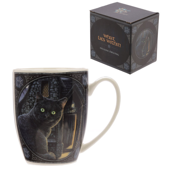 'What Lies Within' Black Cat Mug