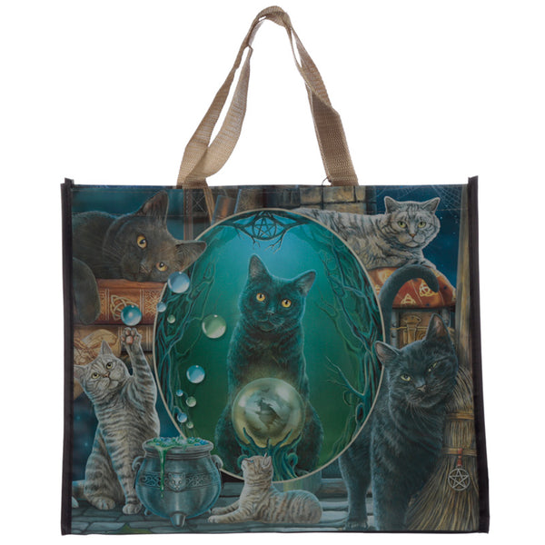 Lisa Parker 'Magic Cats Montage' Large Shopping Bag