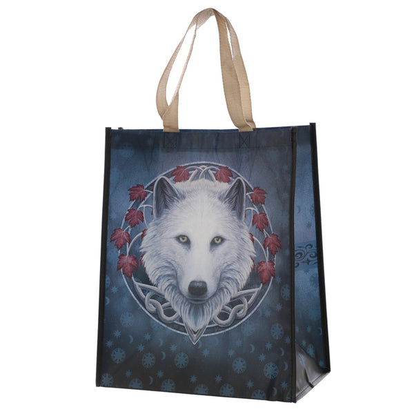Lisa Parker 'Guardian of the Fall' Wolf Large Shopping Bag