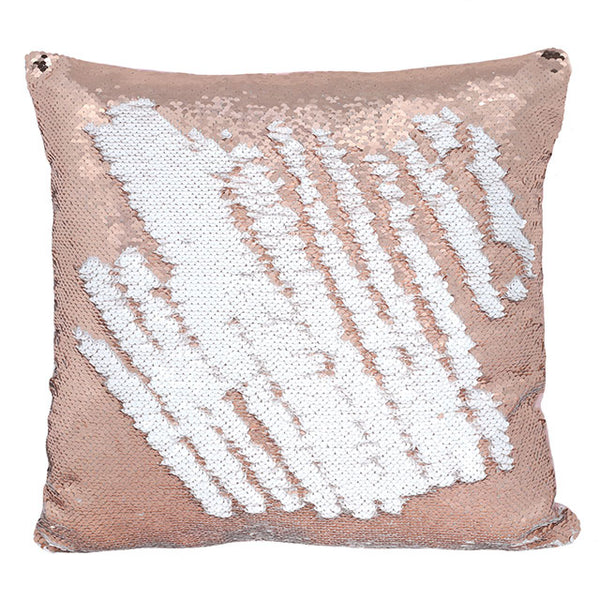 Rose Gold Reversible Sequin Cushion 40cm