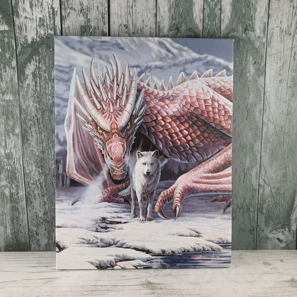 'Alliance' Wolf & Dragon Canvas Picture by Lisa Parker