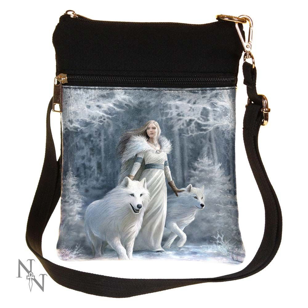 'Winter Guardians' Wolf Shoulder Bag