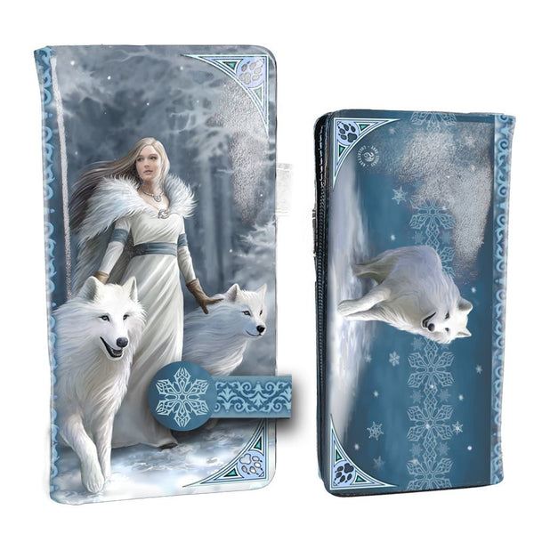 Winter Guardians Embossed Wolf Purse