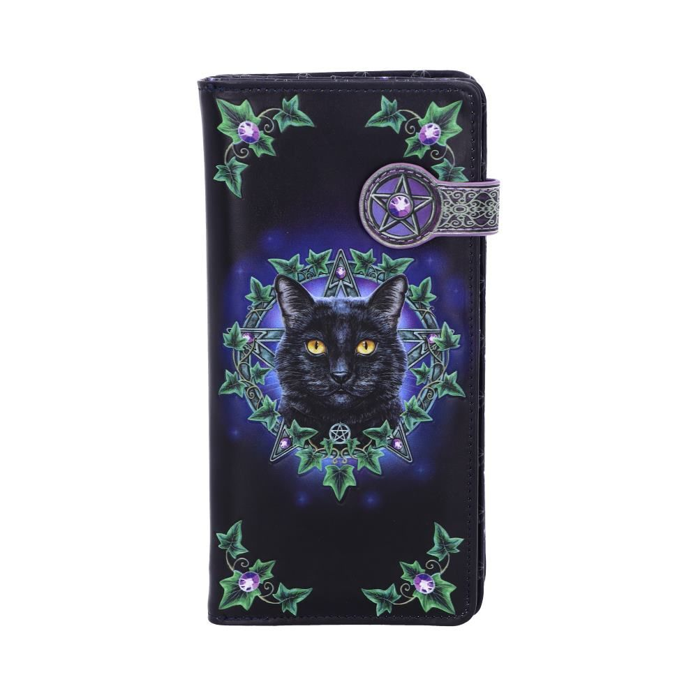 The Charmed One Black Cat Embossed Purse