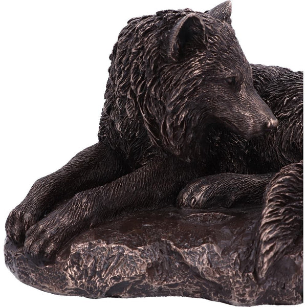 Guardian of the North Bronze Wolf Ornament 19.5cm
