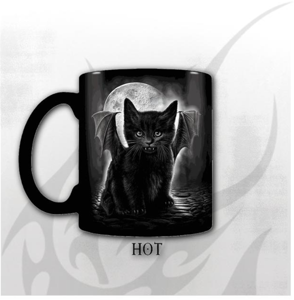 Bat Cat Heat Changing Mug