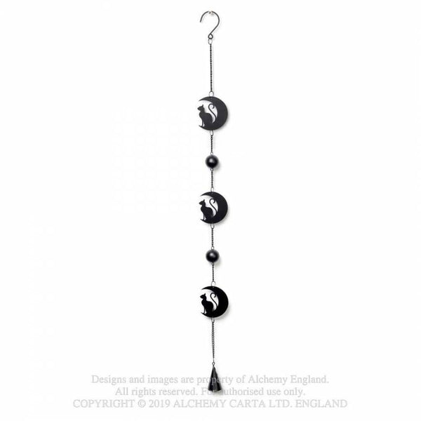 Alchemy Gothic 'Black Cat & Moon' Hanging Decoration