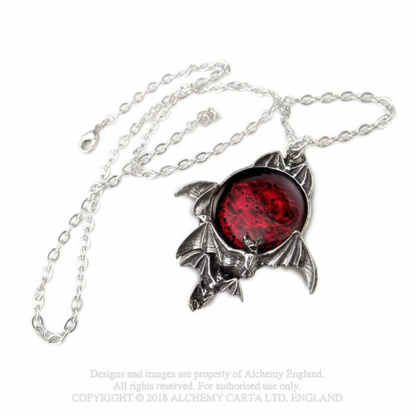 Blood Moon Vampire Bat Necklace