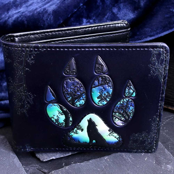 Footprints -  Embossed Wolf Wallet