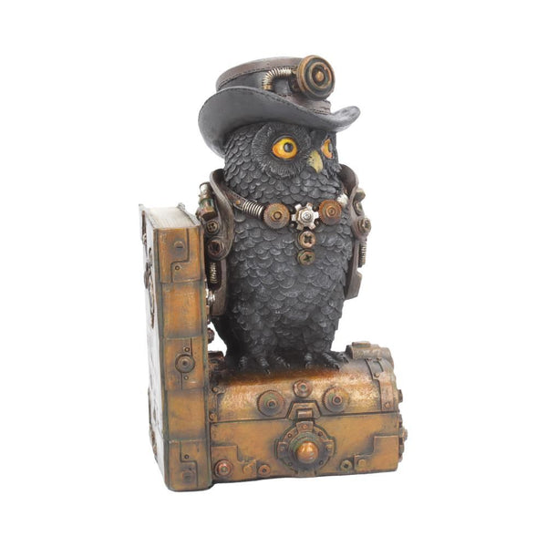 Augmented Wisdom Steampunk Owl Book End 19cm