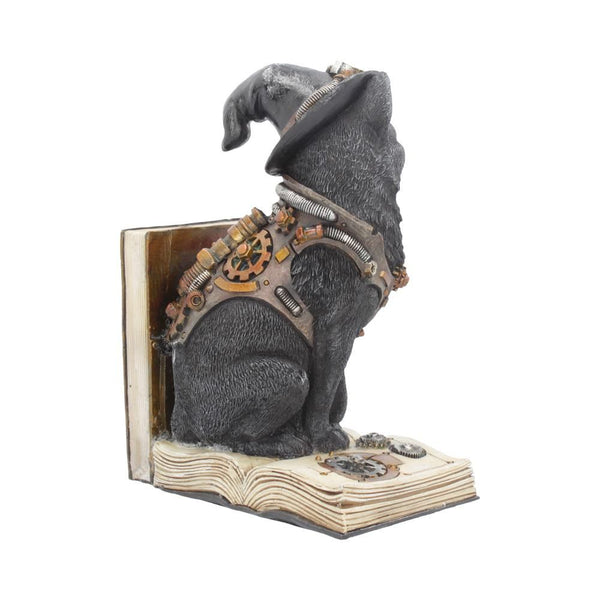 Purring Pioneer Steampunk Cat Book End 19cm
