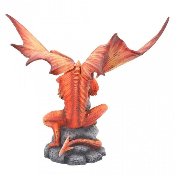 Anne Stokes Adult & Baby Fire Dragon Ornaments