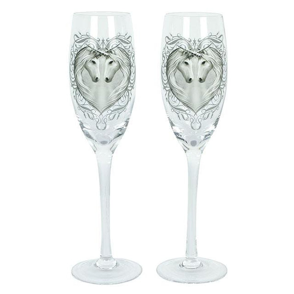 Anne Stokes Unicorn Champagne Flutes (set of 2)