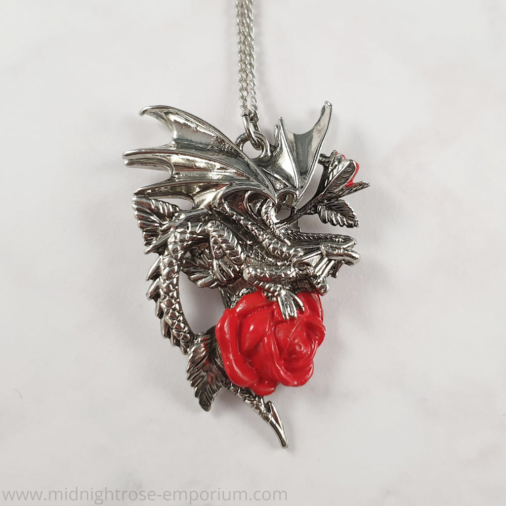 Anne Stokes 'Draca Rosa' Necklace - Carpe Noctum Collection