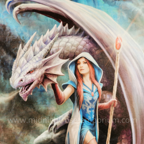 Dragon Mage Canvas Plaque by Anne Stokes