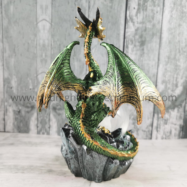 Emerald Oracle Dragon Figurine 19cm