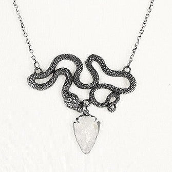 'Entwine' Snake Necklace with Crystal