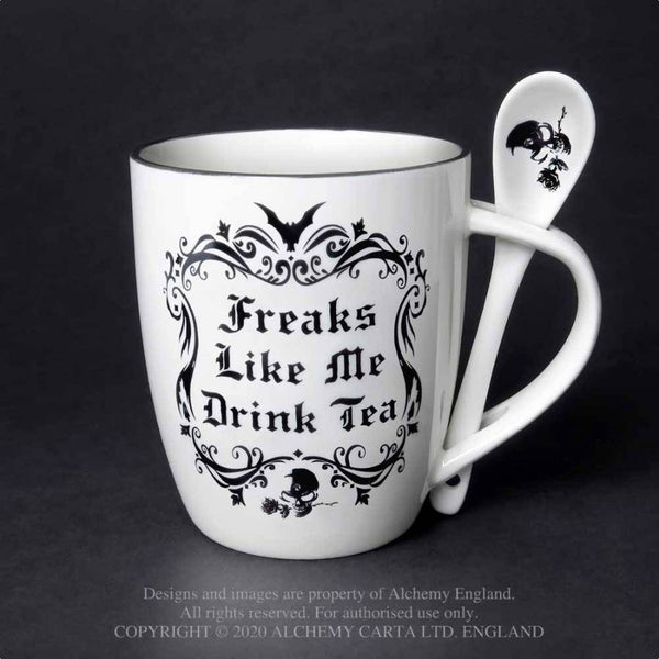 Freaks Like Me Drink Tea Mug & Spoon Set