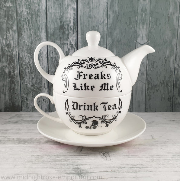 Alchemy Gothic 'Freaks Like Me' Tea Set for One