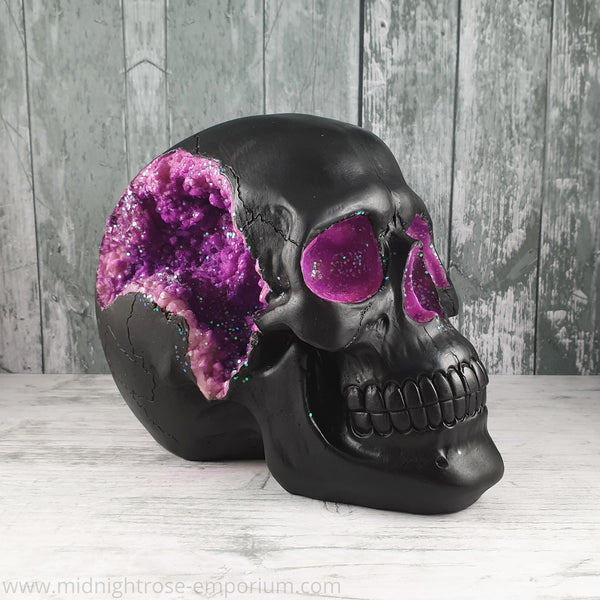 PRE ORDER Purple Geode Skull Ornament