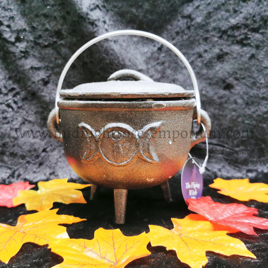Triple Moon Cast Iron Cauldron 11cm