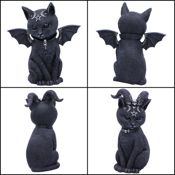 PRE ORDER 'Malpuss' & 'Pawzuph' Set of 2 Black Cat Ornaments