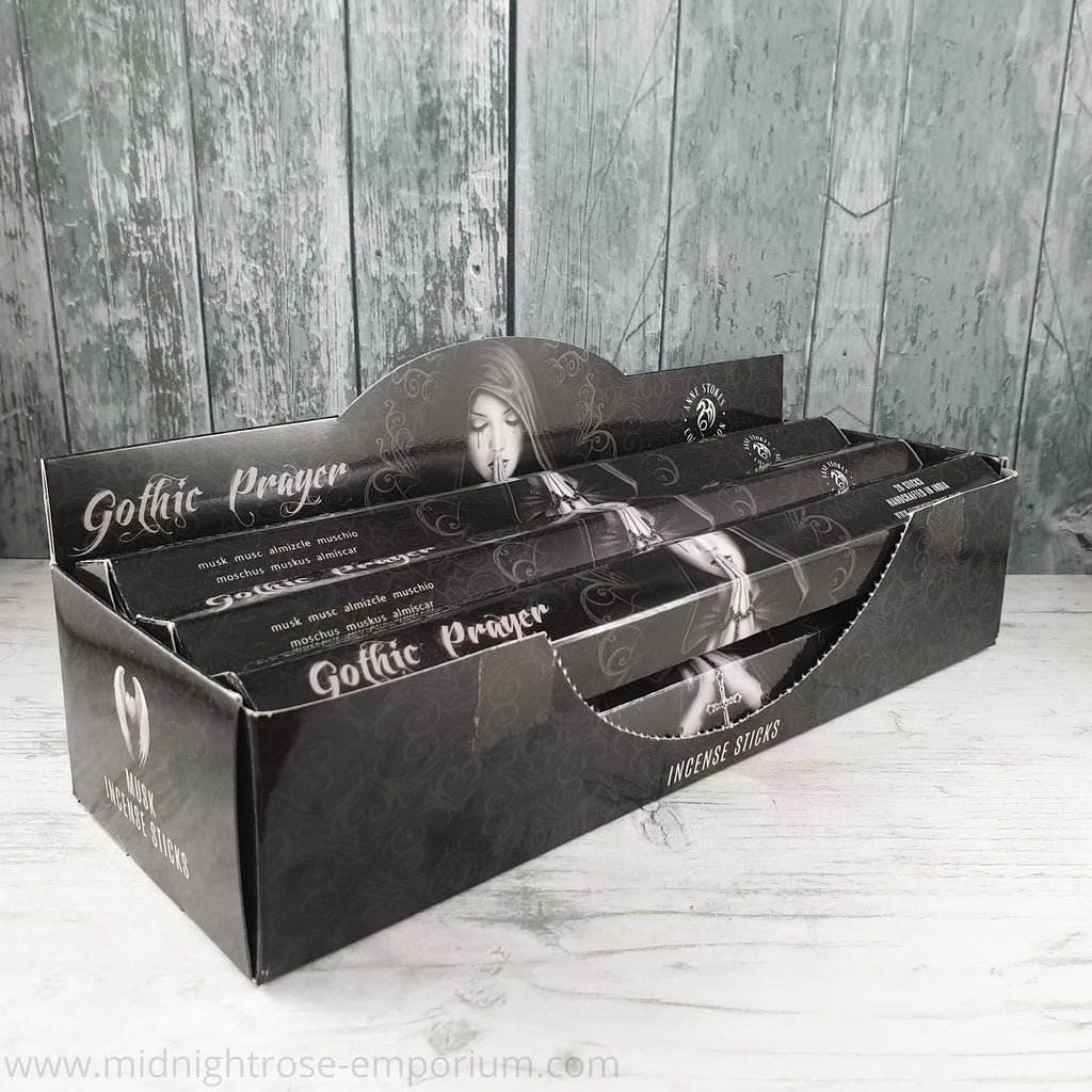 Anne Stokes 'Gothic Prayer' Incense Sticks (Musk)