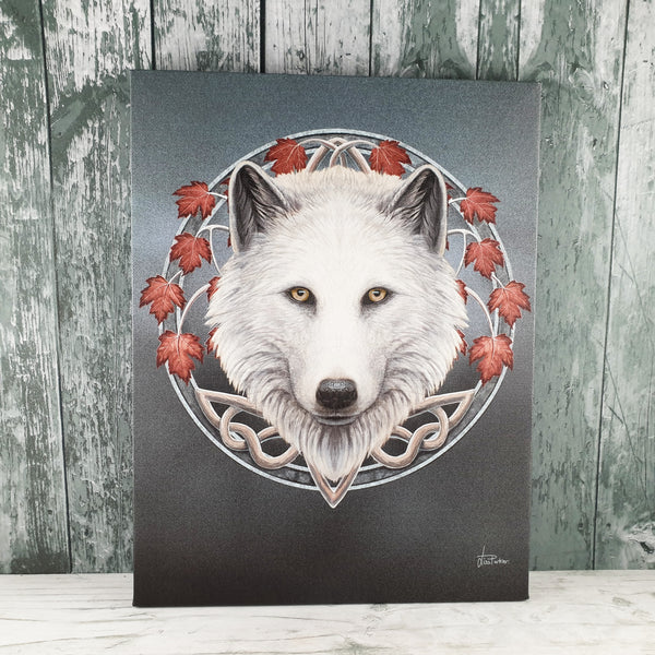 Guardian of the Fall Wolf Canvas Picture by Lisa Parker