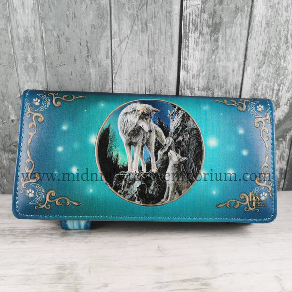 Guidance Embossed Wolf Purse
