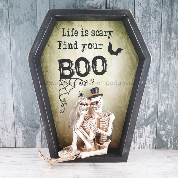 Life is Scary Find Your Boo Wall Plaque 31.3cm