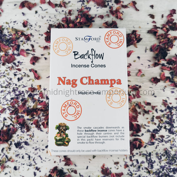 Nag Champa Backflow Incense Cones - Box of 12