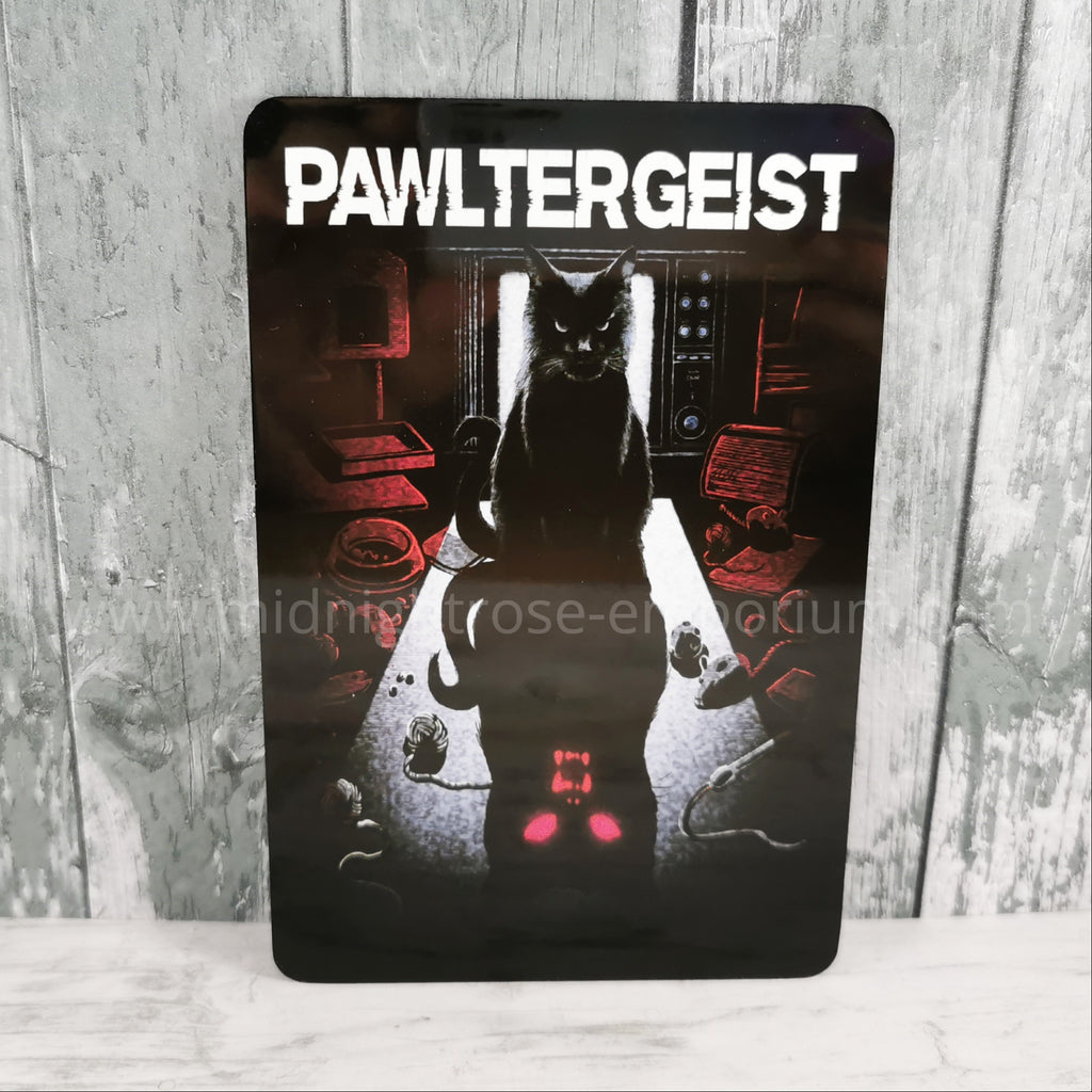 'Pawltergeist' Small Tin Sign
