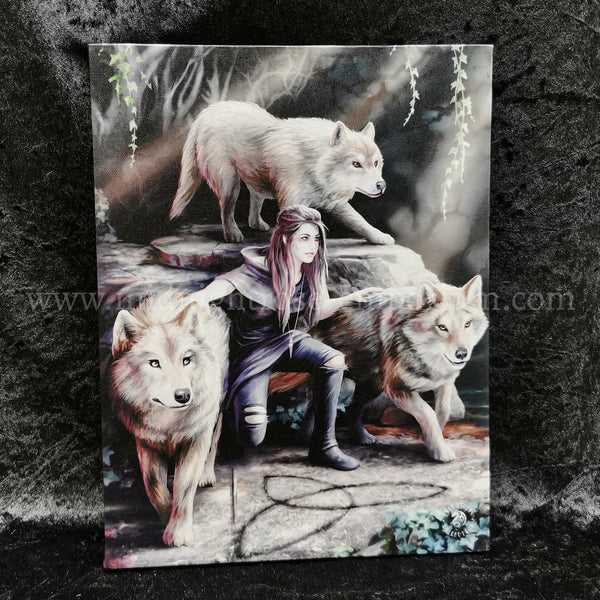 'Power of Three' Canvas Plaque by Anne Stokes