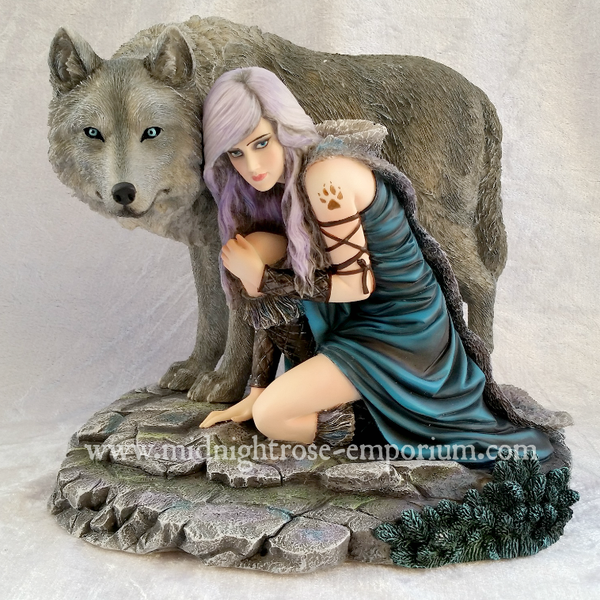 Anne Stokes 'Protector' Limited Edition Wolf Ornament 25cm