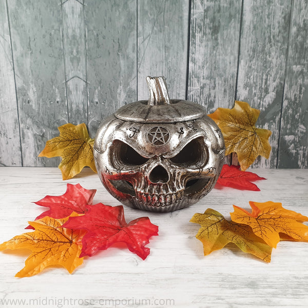 Alchemy Gothic Pumpkin Skull Pot