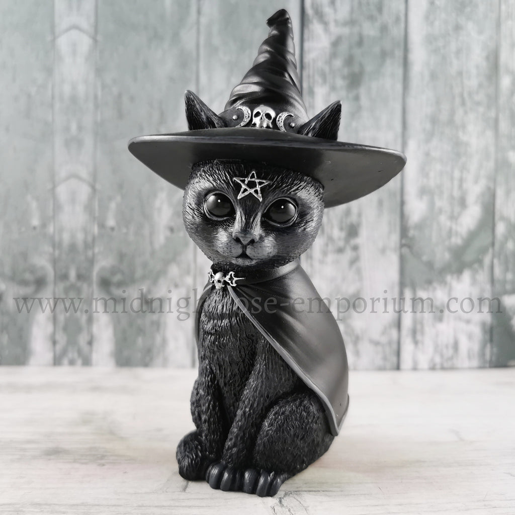 'Purrah' Witch Cat Ornament 13.5cm