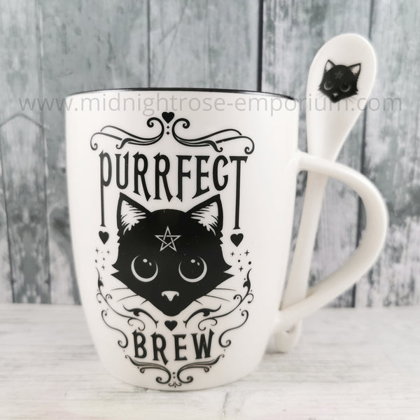 Purrfect Brew Mug & Spoon Set