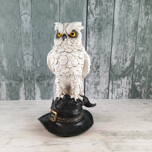 'Soren' Owl on Witch Hat Ornament