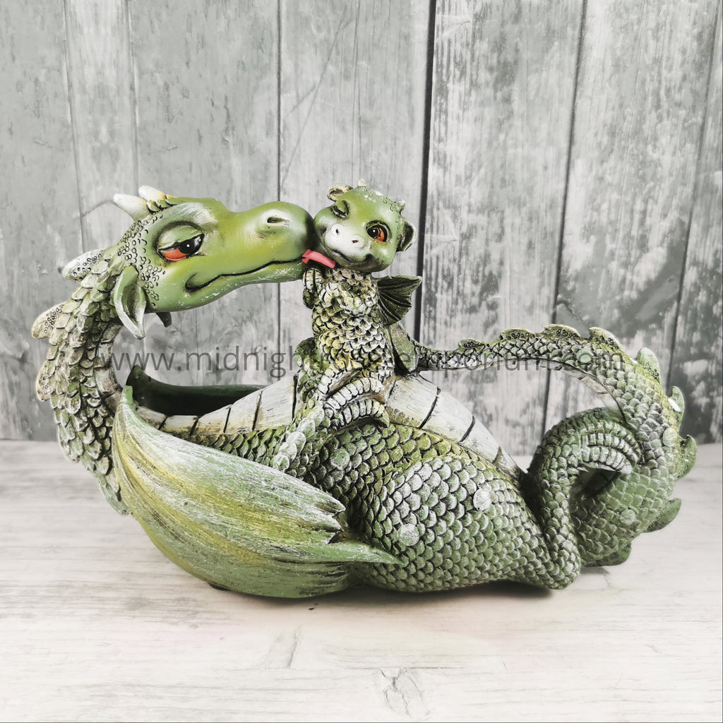 Sweetest Moment Dragon Figurine - Green 20.2cm
