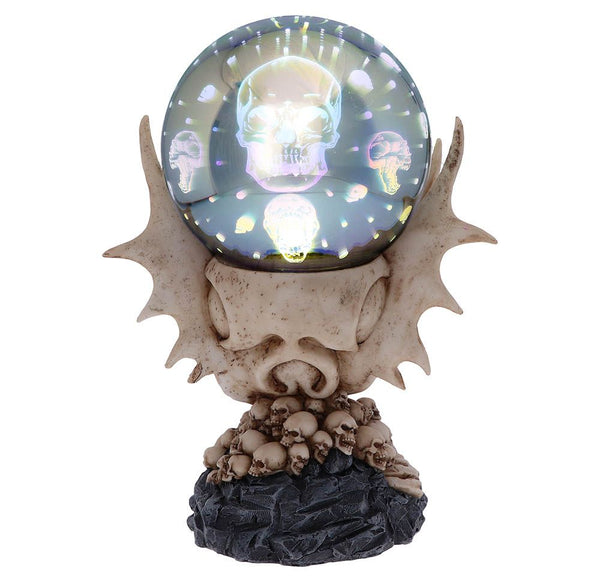 Skeletal Realm Dragon Skull Orb Light 27cm
