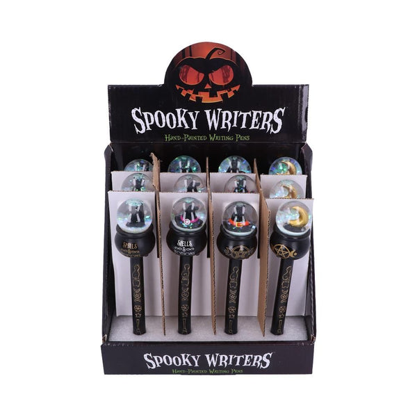 Spooky Writers Crystal Cauldron Pens - 4 Different Designs