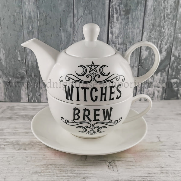 Alchemy Gothic 'Witches Brew Hex' Tea Set for One