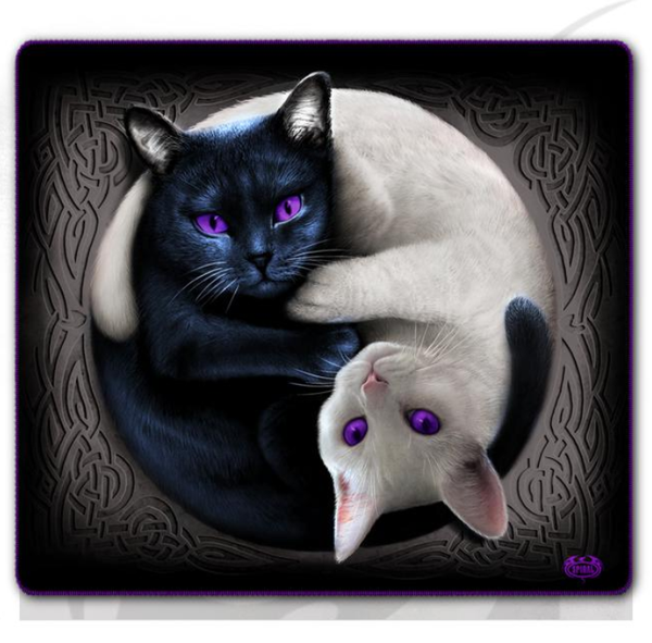 Yin Yang Cats Jumbo Fleece Blanket