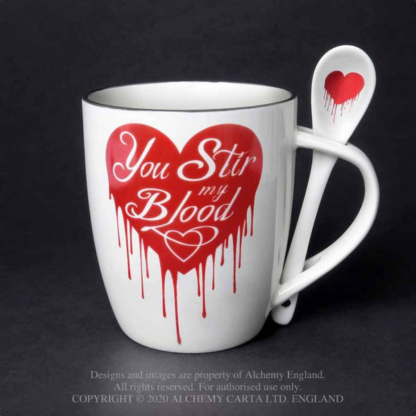 You Stir My Blood Mug & Spoon Set