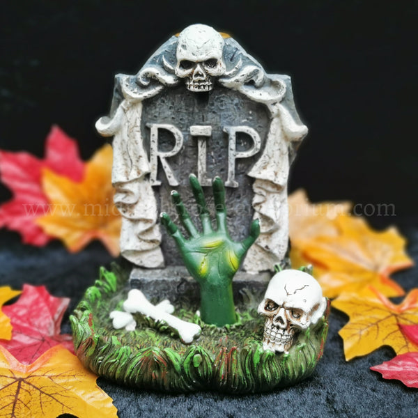 Zombie Hand Tombstone Backflow Incense Burner