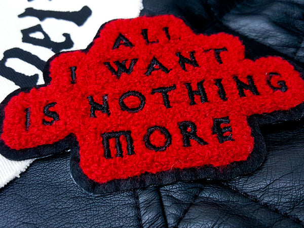 Hallow Collective - All I Want Is Nothing More Chenille Patch