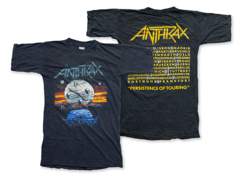 Anthrax - Persistence of Touring Tee 1990 Front and Back