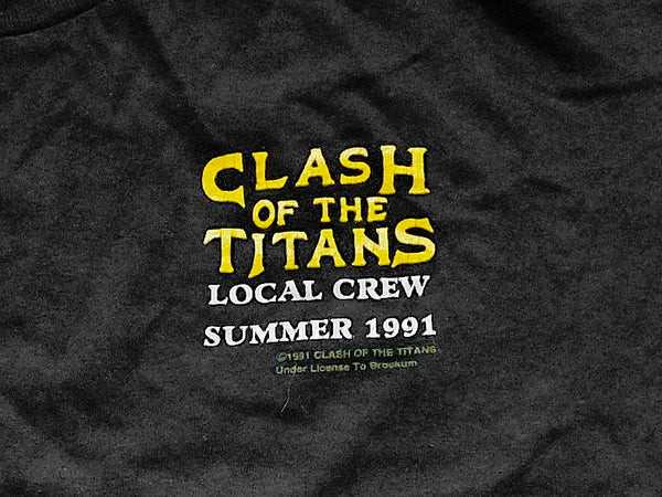 Clash of The Titans - Local Crew Tee 1991 Pocket Print Close Up