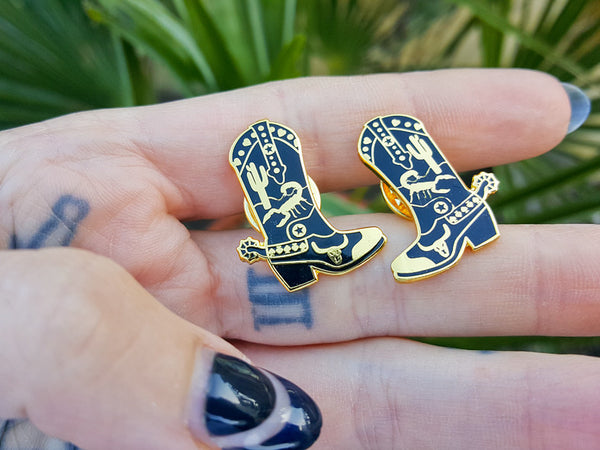 Hallow Collective - Cowboy Boots Enamel Pin Set