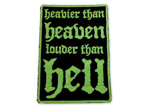 Hallow Collective - Heavier Than Heaven, Louder Than Hell Patch - Green and Black